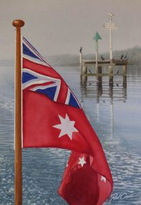 Red Ensign at Storm Point